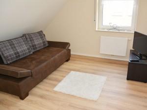 Ausziehbare Couch im 1. Stock